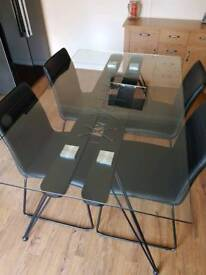 Charles Jacob dining table and chairs