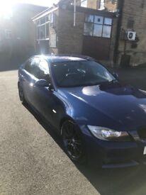 Blue BMW 3 Series Msport