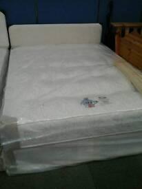 Kingsize excelsior orthopaedic mattress and base