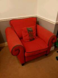 Lovely arm chair hardly ever uses