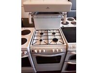 New World 50THLG 50cm Gas Cooker in White - High Level Grill Gas Cooker