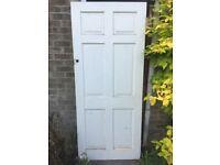 Solid wooden external door 84cm x 198cm