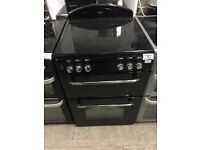 Leisure CLA60CE Black 60cm Double Oven Electric Cooker