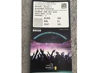 Boxing match ticket