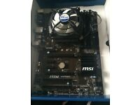 Intel I5 6600K, MSI B150 PC Mate, 8GB (2x4GB) Corsair Vengeance DDR4, Alpine 11 Pro CPU Fan