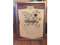 Signed Heart of Midlothian shirt framed