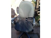 Black fabric computer chair