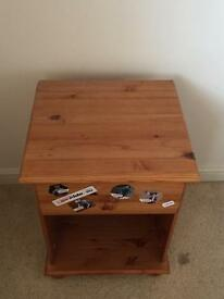 Pine bedside table - Collection only