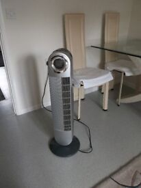 Tall, smart oscillating rotating fan