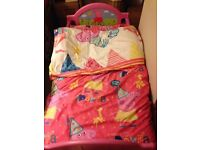 Pink Peppa pig toddler bed with mattress