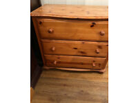 Chest of drawers , made of pine . feel free to view size L 31 in D 18 in H 28 in