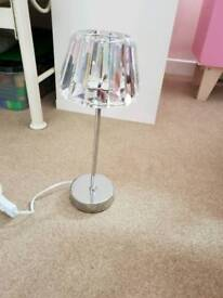 Glass small table lamp