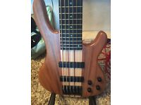 Used Wolf 6 string bass + hard case trade or sale