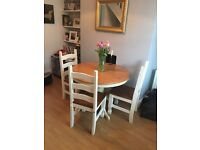 Gorgeous extendable dining table and (optional) 3 chairs