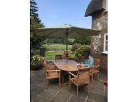 Bramblecrest Teak 6 seater extending garden furniture set