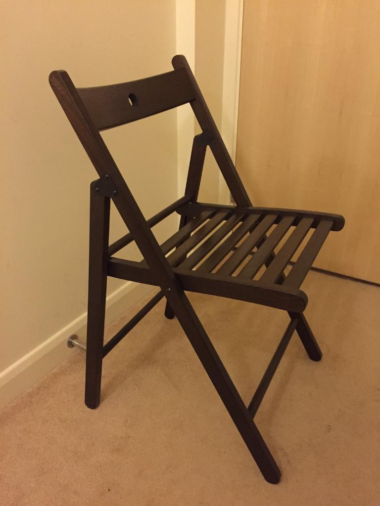 Dark Brown Wooden Ikea Terje Folding Chair In Coventry
