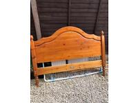 Antique pine double headboard free to collect ASAP from Shawbirch, Telford.