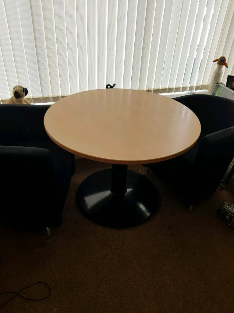 Dining room circular table including 2 tub chairs | in Sparkhill ...