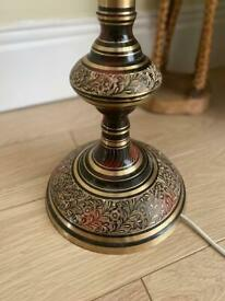 Antique gold and black long lamp