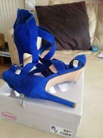 high heels blue size39