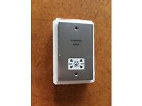 Decorative metal dual voltage shaver supply unit