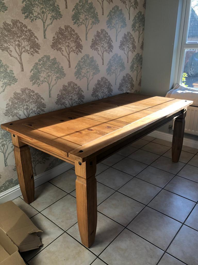 Pier 1 solid wood dining table penrith