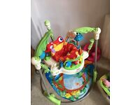 Jungle Baby bouncer and swing chair + bumbo chair