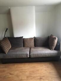 3 seater sofa and swivel armchair