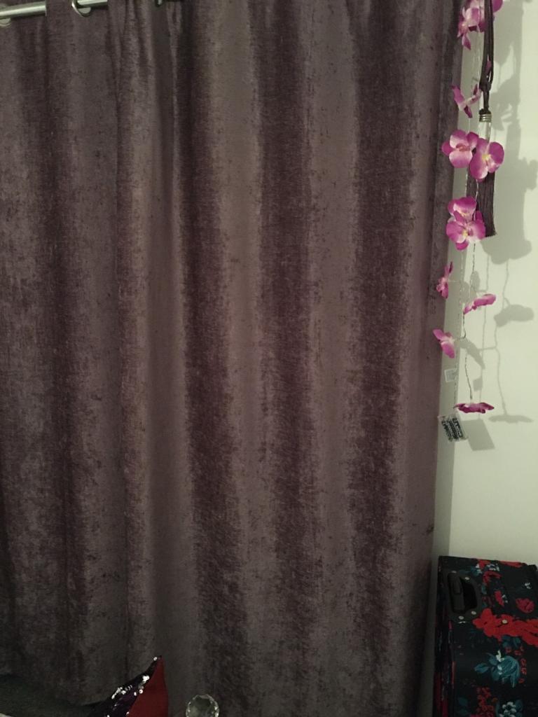 Mauve chenelle curtains
