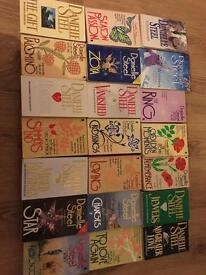 21 used Danielle steel books