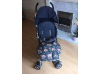 Maclaren Quest Cath Kidston Spray Floral Buggy Pushchair Stroller with Footmuff
