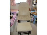gliding chair with footrest