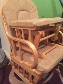 Kub rocking chair with foot stool