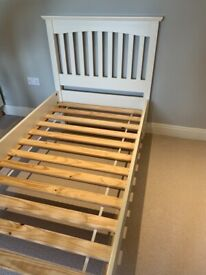 Marks and Spencer's Hastings Ivory Single Bed with mattress if required