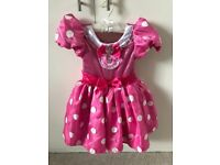 Disney Store Minnie Mouse Dress with gloves. Age 3 years