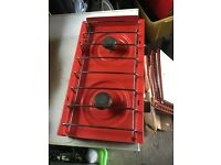 Camping cooker unit