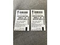 SWAP - x2 Chessington Tickets for Monday 16th April