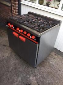 6 Burner Bartlett Yeoman cooker oven