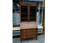 Oak Writing Bureau/Bookcase