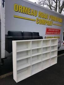 Large White wood bookcase