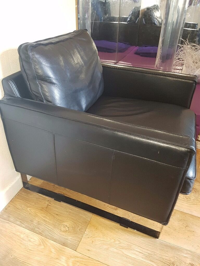 Ikea Melby Leather Armchair 50 In Grangetown Cardiff