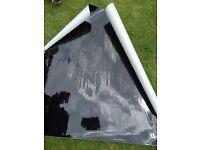 Gloss Black Vinyl, Full Roll 25 metres