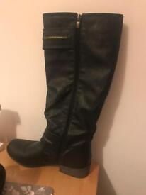 Knee high biker style boots size 7