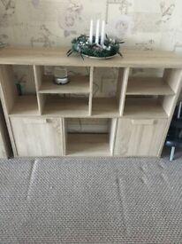 Low shelve unit, storage living room, bedroom sanoma oak finish