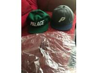 2 Genuine and Real Palace Skateboards Caps