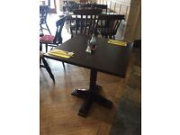 Wooden 2 Seater Restaurant Tables - Ref 4999