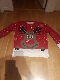 Adult Christmas Jumper Rudolph Reindeer
