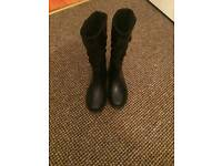 Girls next black boots size 11