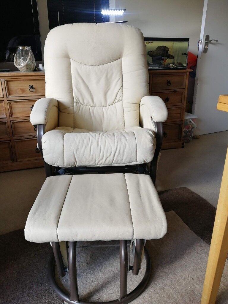 sneakers for cheap 6d5db 02335 Rocking Nursing Chair and Foot Stool in Cream_Kiddi Couture   in  Farnborough, Hampshire   Gumtree
