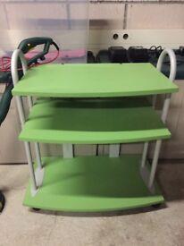 Green 3 tier shelving unit